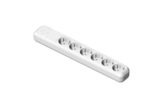 Base multiple sin interruptor sin cable 6 tomas