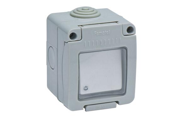 Pulsador timbre superficie 10a ip55