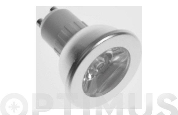 Led dicroica 230v/50hz 60 gu10 1w luz blanca (4000k)