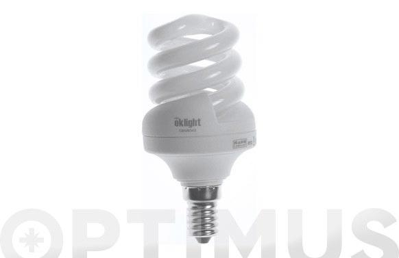 Bombilla bajo consumo espiral 11w e-14 luz blanca