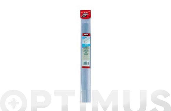 Burlete bajo puerta adhesivo pvc/goma 100 cm transparente