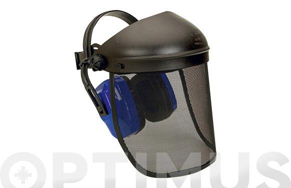 Pantalla facial forestal con proteccion auditiva climax-10