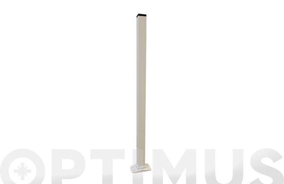 Poste tubo alu.c/pie 60x15cm vpvcp060
