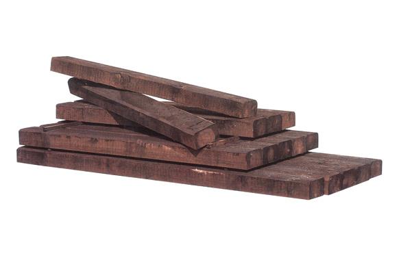 Traviesa madera pino tratado marron oscuro 120 x 20 x 10 cm