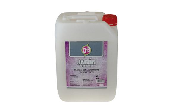 Jabon para manos crema con microesferas 10 l