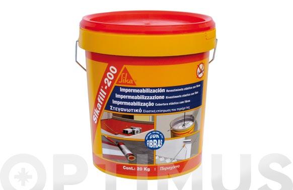 Impermeabilizante sikafill 200 fibras 5 kg rojo