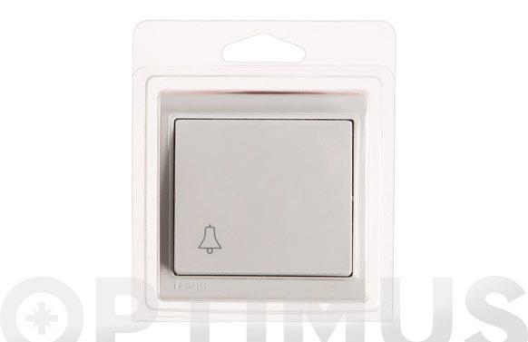 Pulsador timbre superficie 10a blanco