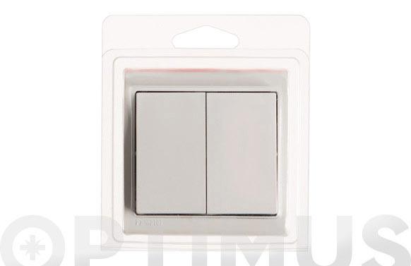 Conmutador doble superficie 10a blanco