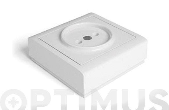 Base superficie s/tt 10a 250v blanco