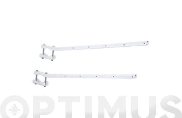 Tendedero baranda adaptable blanco