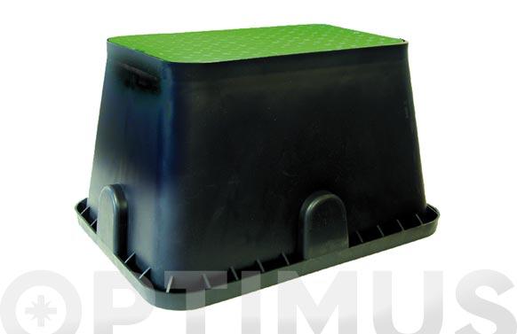 Arqueta rectangular para 2 electrovalvulas h 30x a 27 x f 40 cm.