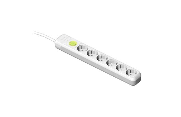 Base multiple con interruptor 6 tomas 1,5mt