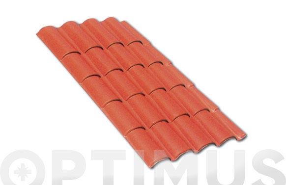 Placa teja coppo terracota 2080 x 1030 mm
