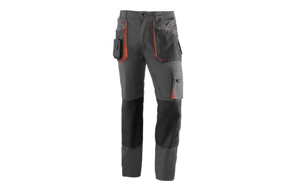 Pantalon multibolsillos top range gris / naranja t. l
