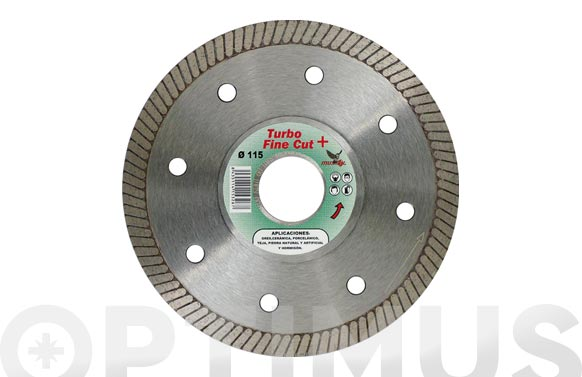 Disco diamante profesional turbo porcelanico 115 mm fine cut