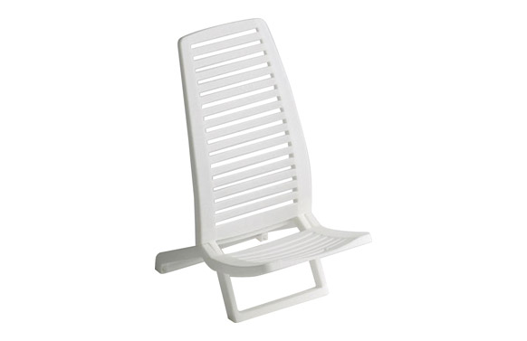 Silla playa propileno blanco blanco