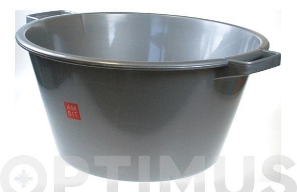 Barreño redondo plata 12 l ø 35 x 19 cm