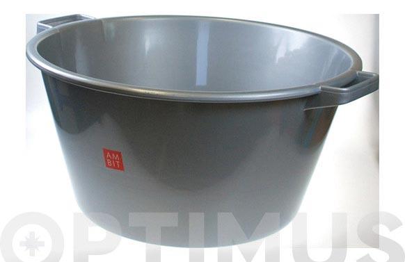Barreño redondo plata 18 l ø 39 x 21 cm