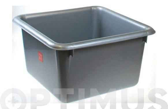 Barreño cuadrado plata 10 l 30 x 17 cm