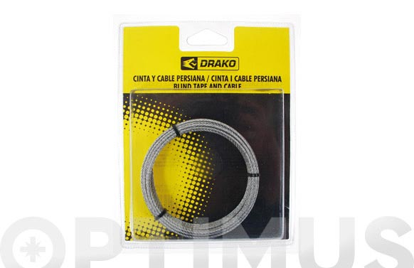 Cable para torno 2 mm x 6 m