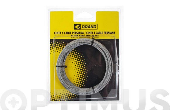 Cable para torno 2,5 mm x 7 m