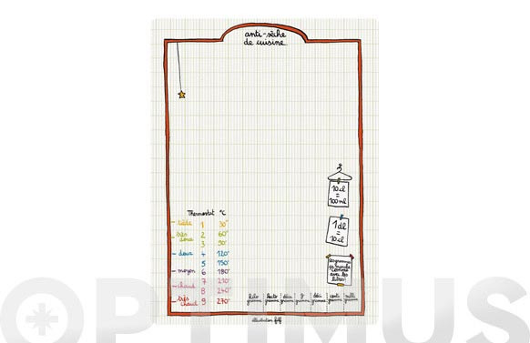 Pizarra memo magnetica 23 x 31 cm notas