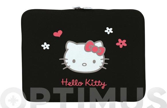 Funda tablet hello kitty 10-12 negro