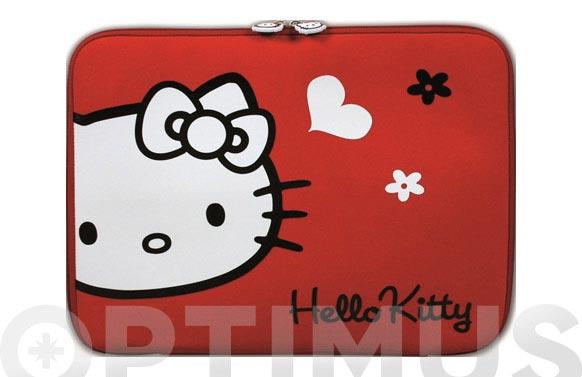 Funda tablet hello kitty 10-12 roja