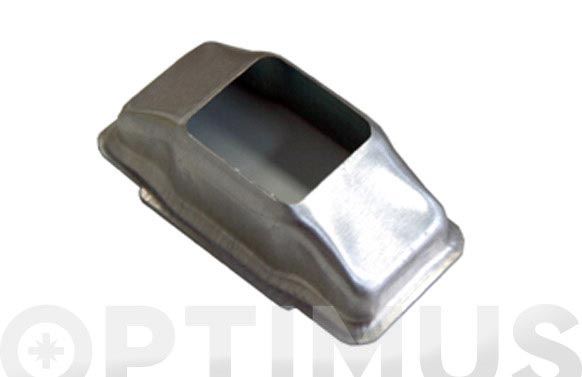 Carcasa pasacintas aluminio natural