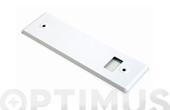 Placa para recogedor aluminio blanca 22 cm