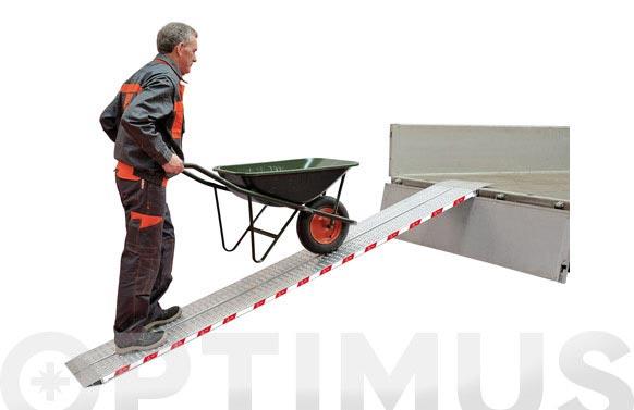 Rampa aluminio plegable biplana rrl200, 2000 x 200 mm