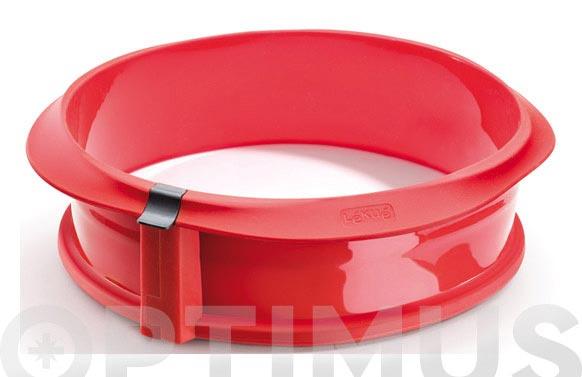 Molde desmontable duo rojo redondo 23 cm