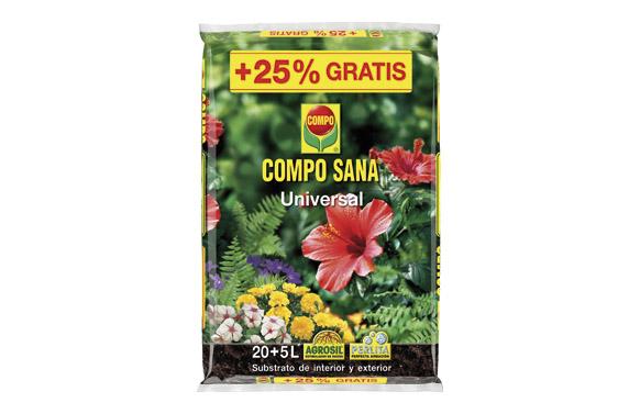 Substrato universal compo sana 20 +5 l gratis