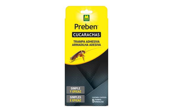 Trampa adhesiva gel cucarachas 5 und