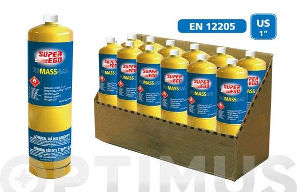 Cartucho gas con valvula 1000 ml romassgas/453gr