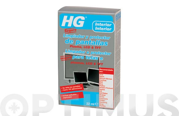 Limpiador pantallas lcd/plasma 22 ml