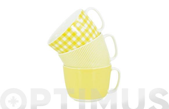 Taza desayuno 300 ml amarillo surtido