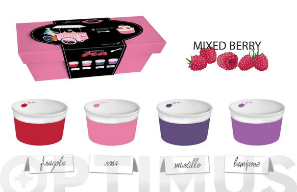 Bol helado + cuchara set regalo frambuesa