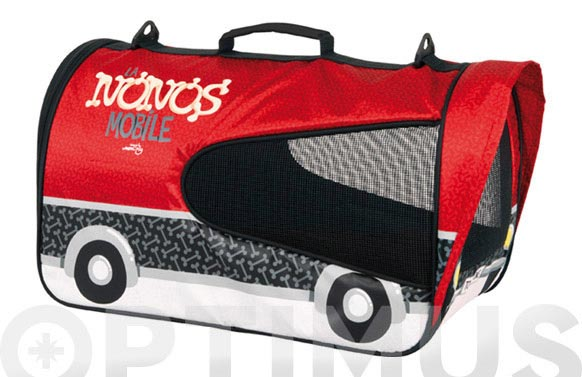 Transportador perros max.8kg d nonos rojo