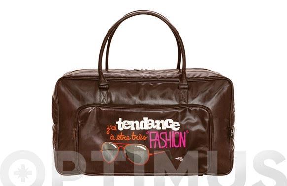Bolsa de mano 55x20x30 disseny fashion marron