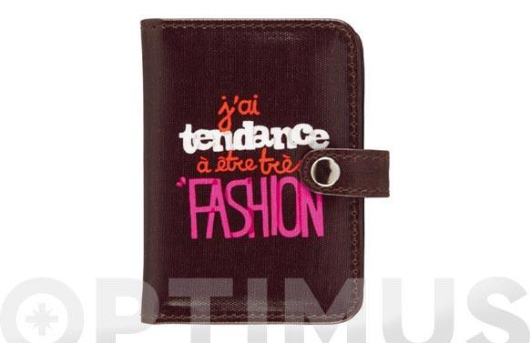 Porta documentos 7.5x10 disseny fashion marron