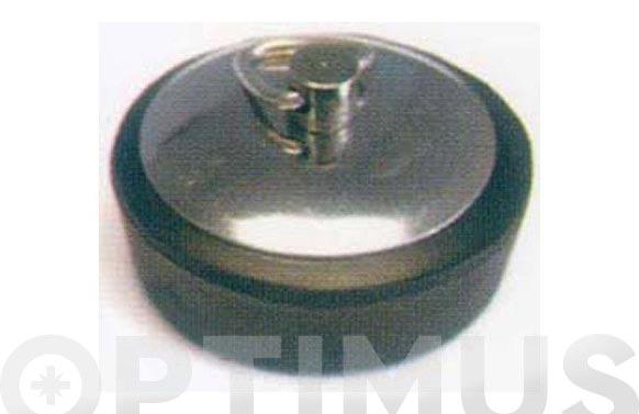 Tapon goma p/valv chapa inox 44 mm