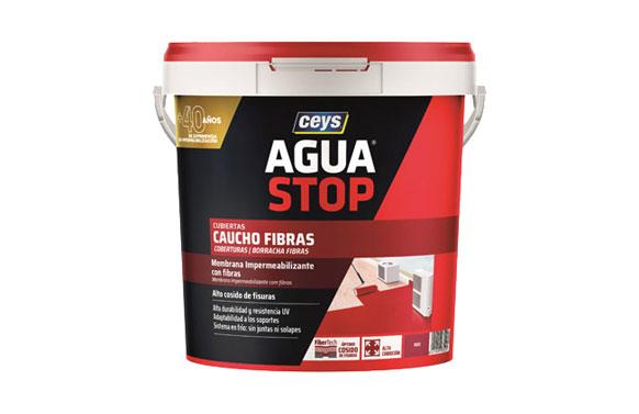 Impermeabilizante agua stop fibras 5 kg rojo