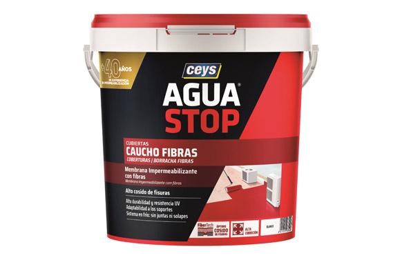 Impermeabilizante agua stop fibras 5 kg blanco