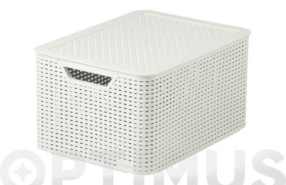 Caja grande style con tapa 30l blanco