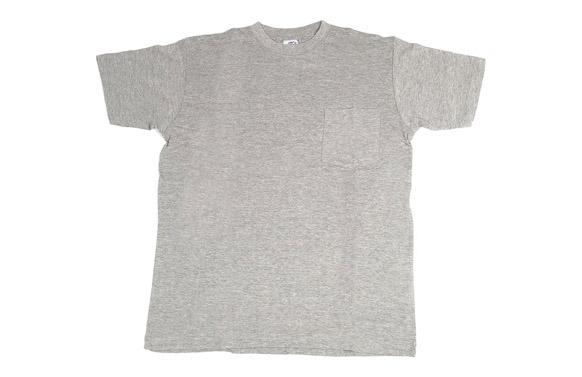 Camiseta algodon con bolsillo gris t m
