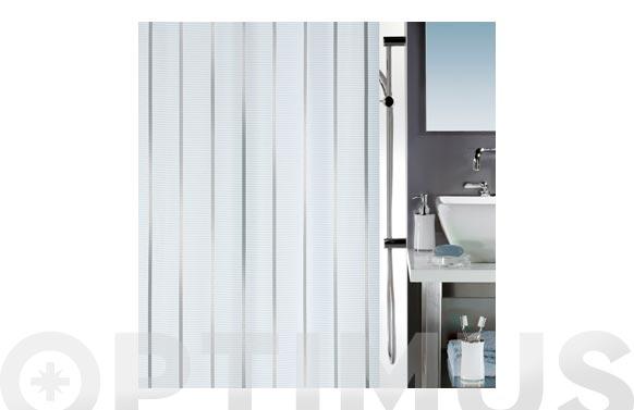 Cortina baño poliester vento silver 180 x 200 cm