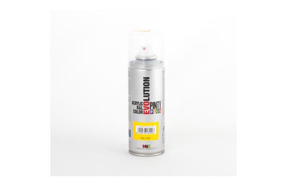 Pintura spray acrilica evolution 270 cc ral1021 amarillo brillo