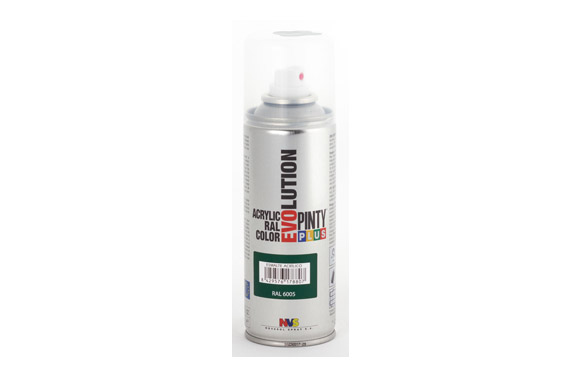 Pintura spray acrilica evolution 270 cc ral6005 verde brillo