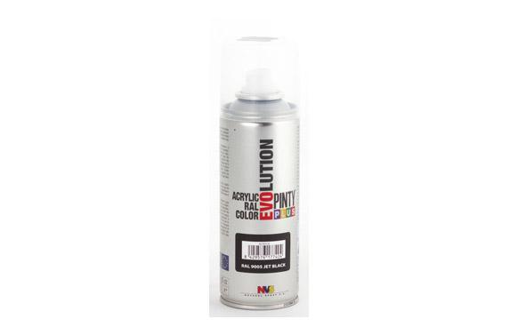 Pintura spray acrilica evolution 270 cc ral9005 negro brillo